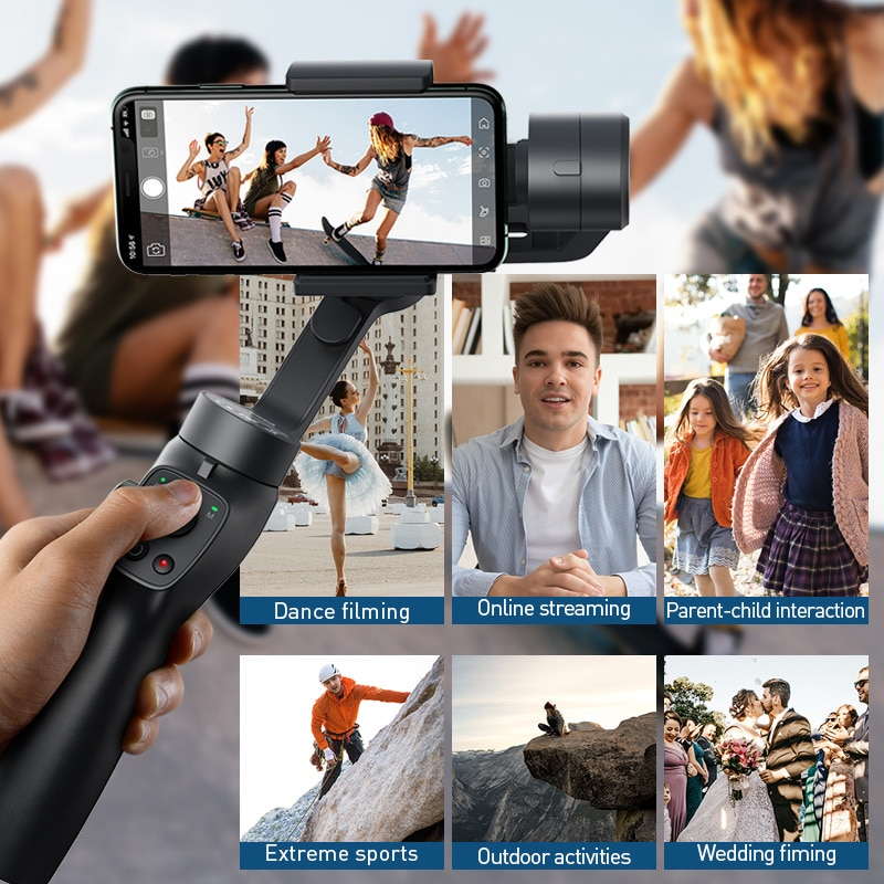 Baseus Bluetooth Selfie Stick 3-Axis Handheld Gimbal Stabilizer –  StationCarts
